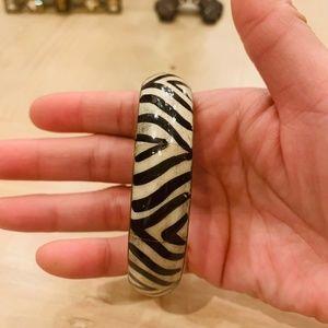 2/$20 Zebra print gold bracelet